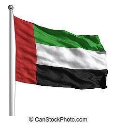 árabe, bandeira, unidas, emirates