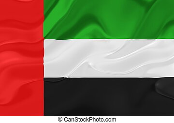 árabe, bandera, ondulado, emiratos, unido