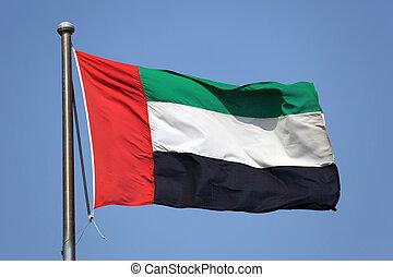 árabe, bandera, unido, emiratos