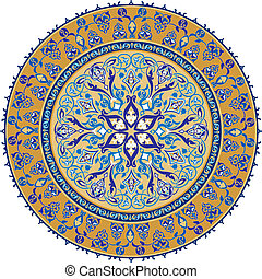 árabe, clássico, ornamento