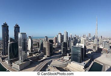 árabe,  dubaï, unidas,  Emirates, centro cidade