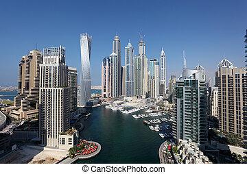 árabe, dubai, marina., emiratos, unido