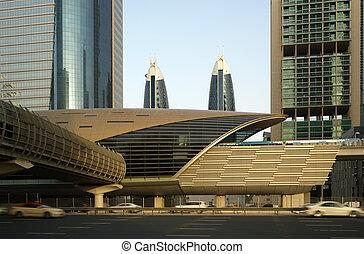 árabe, dubai, metro, emiratos, unido