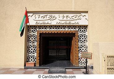 árabe, dubai, unido, emiratos, museo