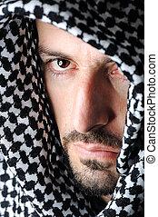 árabe, hombre, colores, palestino