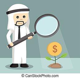 árabe, homem negócios