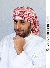 árabe, joven