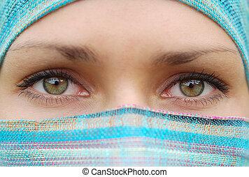 árabe, menina