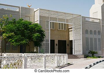 árabe, modernos, uae, arquitetura