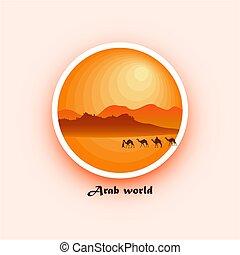 árabe, mundo, insignia