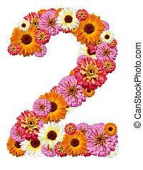 árabe, numeral, dois