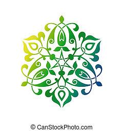 árabe, oriental, ornamento