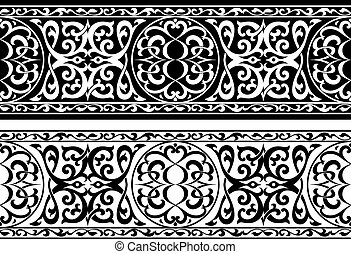 árabe, ornamento, o, persa
