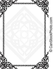 árabe, patrón, marco