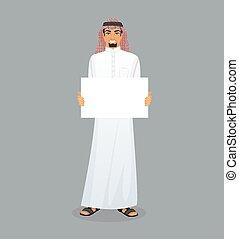 árabe, personagem, imagem, homem