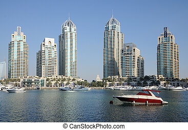 árabe, puerto deportivo, dubai, unido, emiratos
