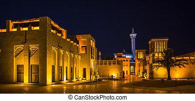 árabe, rua, em, a, antigas, parte, dubai