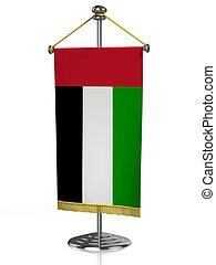 árabe, tabla, bandera, unido, emiratos