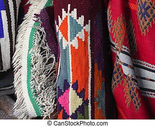 árabe, tradicional, tecidos