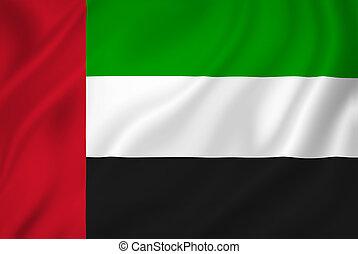 árabe, uae, bandera, unido, emiratos