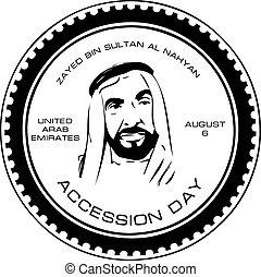 árabe, unido, emiratos, accession, día