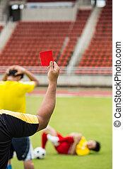 árbitro, exposición, registrado, asqueroso, jugador,...