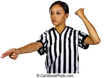 árbitro, hembra