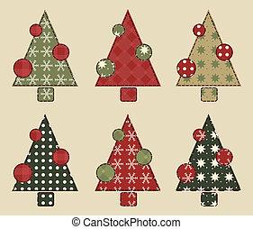 árbol,  2, Conjunto, navidad