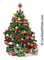 árbol abeto, navidad