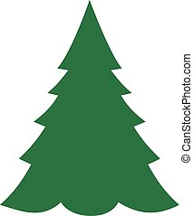 árbol abeto, navidad, icono