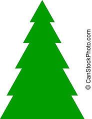 árbol abeto, plano de fondo