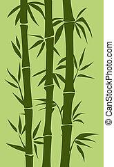 árbol, bambú