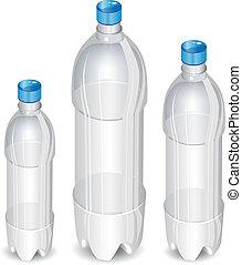 árbol, botellas, plástico