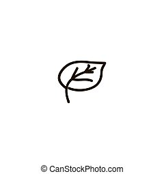 árbol, canadá, tinta, clip, icon., illustration., hoja...
