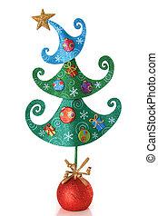 árbol, contemporáneo, navidad