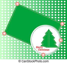 árbol de navidad, con, ornaments., navidad, tema