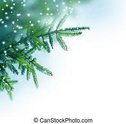 árbol de navidad, frontera