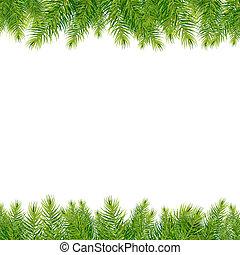 árbol de navidad, fronteras