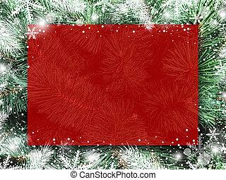 árbol de navidad, nieve, navidad, diseño, tabla, plano de fondo, blanco, copo de nieve, rojo