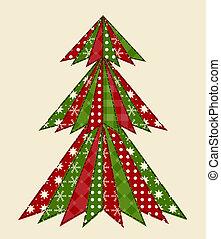 árbol de navidad, para, scrapbooking, 1