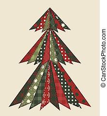 árbol de navidad, para, scrapbooking, 2