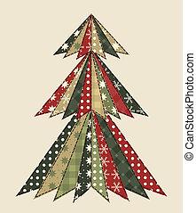 árbol de navidad, para, scrapbooking, 3