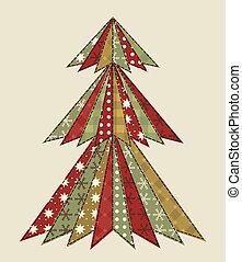 árbol de navidad, para, scrapbooking, 4