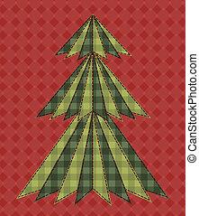 árbol de navidad, para, scrapbooking, 6