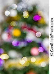 árbol de navidad, plano de fondo, guirnalda, confuso