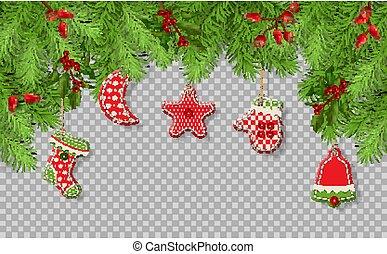 árbol de navidad, ramas