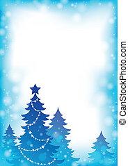 árbol de navidad, silueta, tema, 4