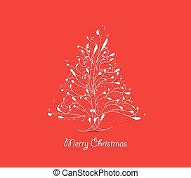 árbol de navidad, tarjeta de felicitación