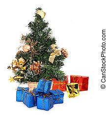 árbol de navidad, y, regalos, #2