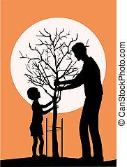 árbol de plantación